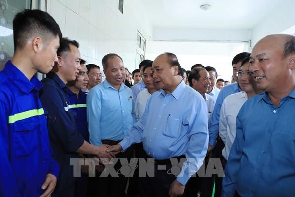 Thủ tướng Nguyễn Xuân Phúc thăm, nói chuyện với công nhân mỏ than Hà Lầm