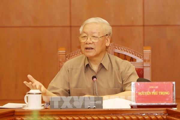 Tổng Bí thư, Chủ tịch nước chủ trì họp Thường trực BCĐ T.Ư về phòng, chống tham nhũng 