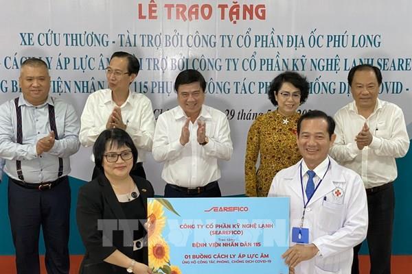 Tp Hồ Chí Minh: Tặng thiết bị y tế chống dịch COVID-19 cho Bệnh viện Nhân dân 115