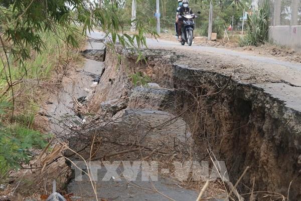 Tiền Giang: Tình trạng sạt lở đất diễn biến phức tạp