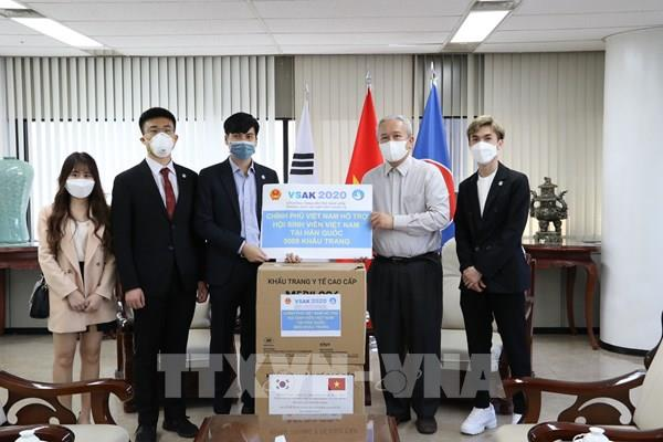 Trao tặng 25.000 khẩu trang cho cộng đồng người Việt Nam tại Hàn Quốc