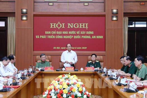 Thủ tướng chủ trì hội nghị xây dựng và phát triển công nghiệp quốc phòng, an ninh