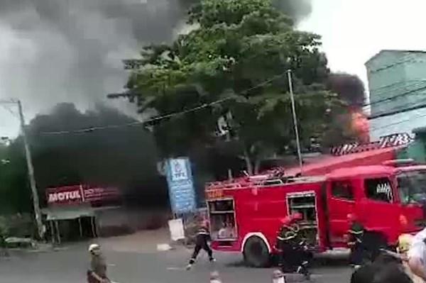 An Giang: Cháy lớn tại cây xăng làm 1 người chết, 2 người bị thương