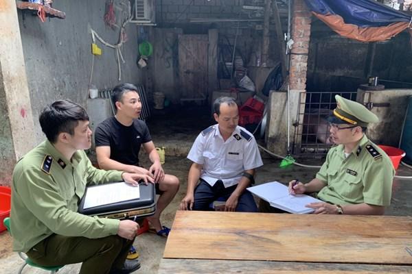 Lực lượng quản lý thị trường Lạng Sơn đồng loạt kiểm tra cơ sở giết mổ lợn