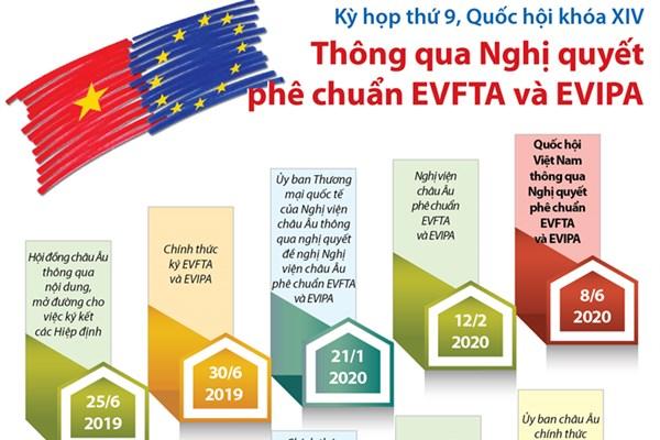 Các dấu mốc quan trọng về Hiệp định EVFTA và EVIPA
