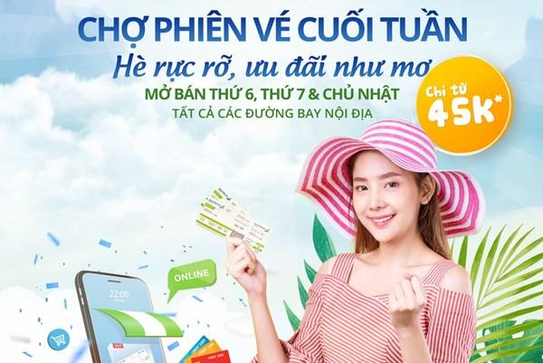 Bamboo Airways ưu đãi giá vé vào ba ngày cuối tuần