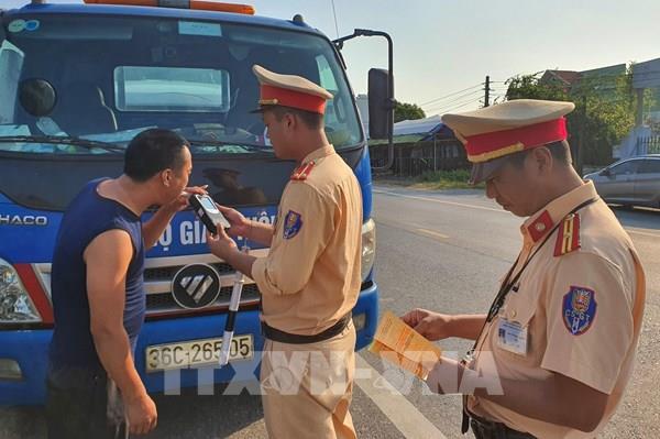 Cục Cảnh sát giao thông xử lý 18.022 trường hợp vi phạm nồng độ cồn