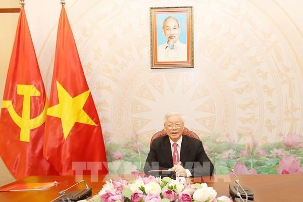 Tổng Bí thư, Chủ tịch nước Nguyễn Phú Trọng điện đàm với Tổng thống Nga V.V.Putin