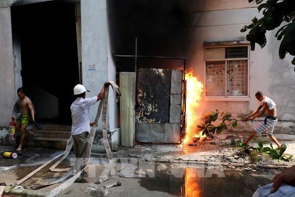 Cháy chung cư ở thành phố Đà Nẵng