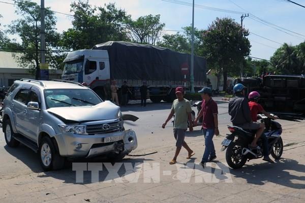 Phú Yên: Tai nạn liên hoàn trên đại lộ Nguyễn Tất Thành