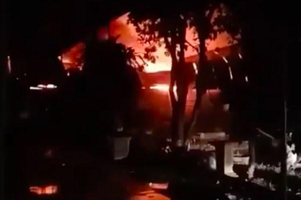 Cháy kèm tiếng nổ lớn tại phía Nam Hà Nội