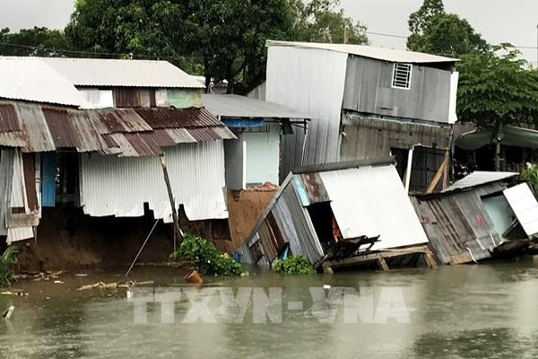 An Giang: Sạt lở rạch Cái Sao, 15 hộ dân phải di dời khẩn cấp