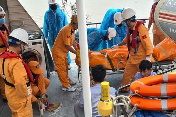 Cứu nạn tàu cá TH 90282 TS va chạm với tàu Annie Gas 09: Đã tìm được 4 thi thể nạn nhân