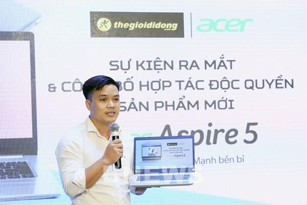 Thế Giới Di Động chính thức ra mắt và kinh doanh độc quyền Acer Aspire 5