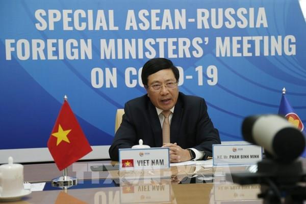 Hội nghị trực tuyến Đặc biệt Bộ trưởng Ngoại giao ASEAN-Nga về ứng phó dịch COVID-19