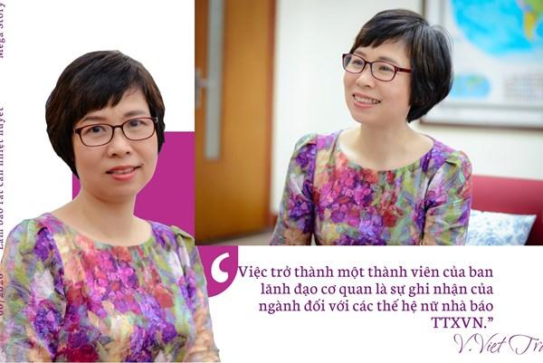Nữ Phó Tổng Giám đốc đầu tiên của TTXVN
