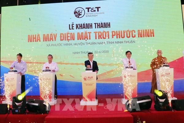 Khánh thành Nhà máy điện mặt trời Phước Ninh