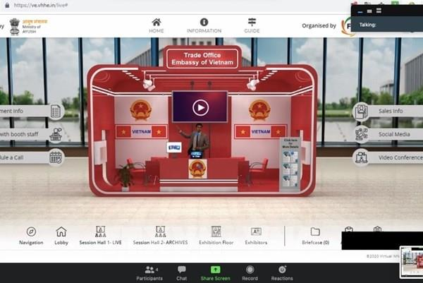 Doanh nghiệp và bệnh viện Việt Nam tham dự hội chợ trực tuyến đầu tiên ở Ấn Độ