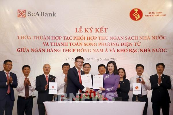 SeABank và Kho bạc Nhà nước phối hợp thu ngân sách và thanh toán song phương điện tử