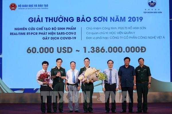 Nghiên cứu chế tạo bộ sinh phẩm phát hiện SARS-CoV-2 được trao Giải thưởng Bảo Sơn