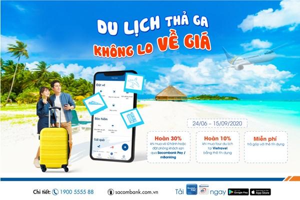 Quẹt thẻ Sacombank - Du lịch thả ga, không lo về giá