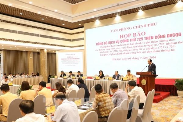Công bố 6 dịch vụ công cung cấp trên Cổng Dịch vụ công quốc gia
