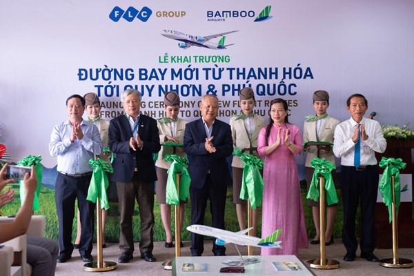 Bamboo Airways khai trương 2 đường bay kết nối Thanh Hóa với Quy Nhơn và Phú Quốc
