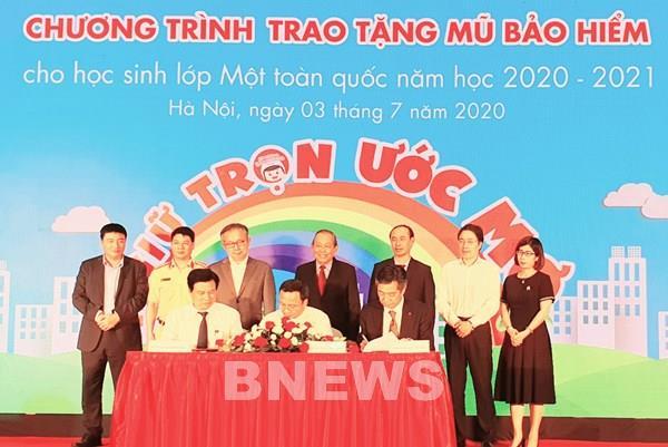 Honda Việt Nam công bố tặng mũ bảo hiểm cho học sinh lớp Một toàn quốc