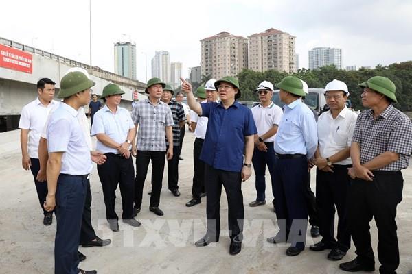 Bí thư Thành uỷ Hà Nội kiểm tra các dự án giao thông trọng điểm
