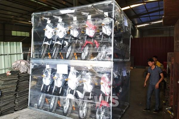 PEGA Việt Nam xuất khẩu lô xe máy điện trị giá gần 3 triệu USD sang Cuba