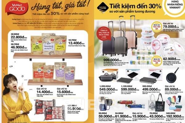 VinMart giảm giá nhiều mặt hàng trong Tháng khuyến mại