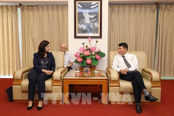 Tổng Giám đốc Thông tấn xã Việt Nam tiếp Đại sứ Cộng hòa Bulgaria tại Việt Nam