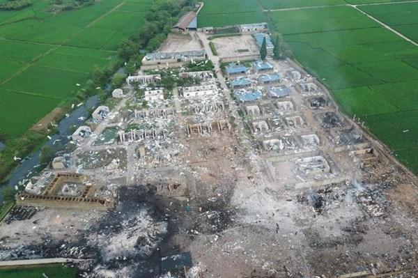 Nổ lớn tại nhà máy pháo hoa ở Trung Quốc
