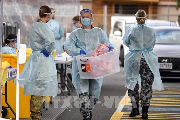 Bang Victoria của Australia ghi nhận số ca nhiễm mới COVID-19 theo ngày cao nhất