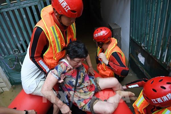Tỉnh Giang Tây, Trung Quốc ra cảnh báo lũ cao nhất