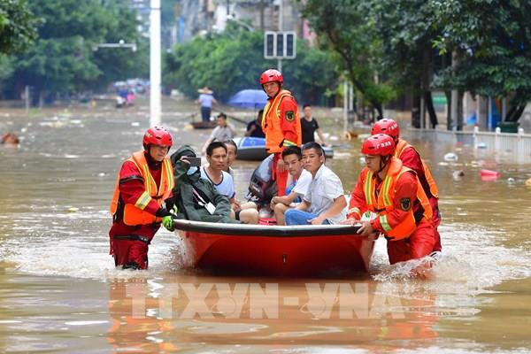 Trung Quốc báo động mực nước các sông dâng cao kỷ lục mùa lũ
