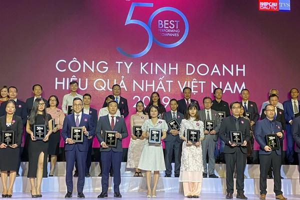 """PV GAS trong Top """"50 Công ty kinh doanh hiệu quả nhất Việt Nam 2019"""""""