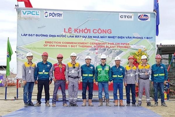 Lilama triển khai hạng mục đầu tiên tại Nhà máy Nhiệt điện BOT Vân Phong 1
