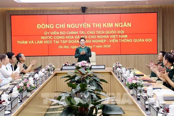Chủ tịch Quốc hội: Viettel cần tiếp tục giữ vị trí số 1 về viễn thông của Việt Nam