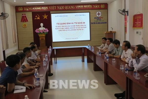 Quảng Bình và Nghệ An trao đổi kinh nghiệm quản lý vận hành hệ thống truyền tải