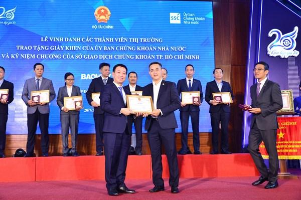 Bảo Việt được ghi nhận cho sự phát triển của thị trường chứng khoán Việt Nam