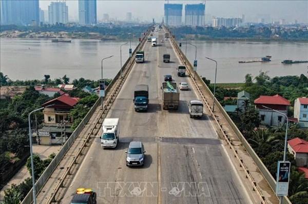 Phân luồng giao thông trong thời gian sửa chữa cầu Thăng Long
