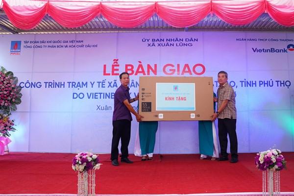 Đạm Phú Mỹ và PVN tài trợ xây dựng Trạm y tế xã Xuân Lũng, Phú Thọ