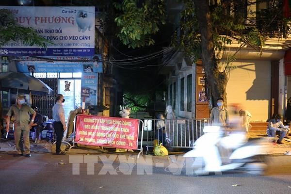 COVID-19: Hà Nội phong tỏa ngõ 466 phố Hoàng Hoa Thám và khu vực lân cận