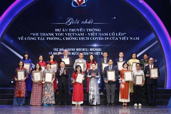 Giải thưởng toàn quốc về Thông tin đối ngoại lần thứ VI: TTXVN nhận 7 giải A các thể loại