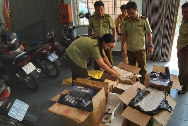 An Giang phát hiện 1.430 bao thuốc lá điếu nhập lậu