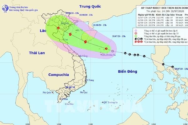 Dự báo thời tiết ngày 2/8: Chiều nay, bão số 2 suy yếu thành áp thấp nhiệt đới