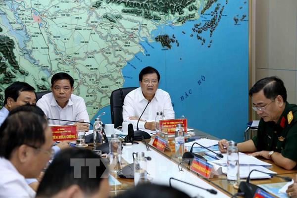 Phó Thủ tướng: Chủ động ứng phó với áp thấp nhiệt đới có thể mạnh lên thành bão