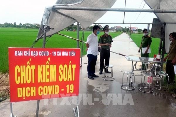 Thái Bình phong tỏa thôn có người dương tính với SARS-CoV-2
