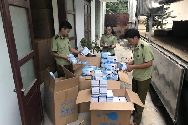 Phát hiện 18.950 hộp khẩu trang y tế không có hoá đơn chứng minh hàng hoá hợp pháp
